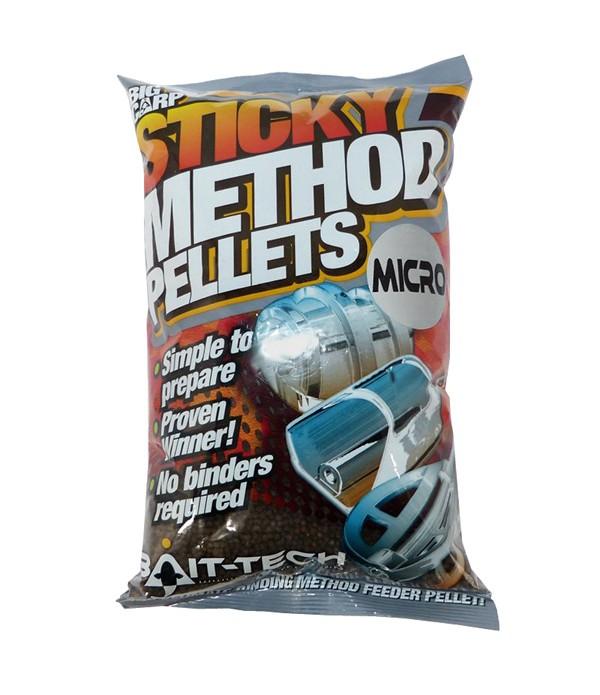 BAIT-TECH STICKY METHOD PELLETS MICRO 800GR