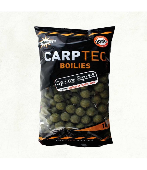 DYNAMITE BAITS VABA CARPTEC SPICY SQUID BOILIES 2K...