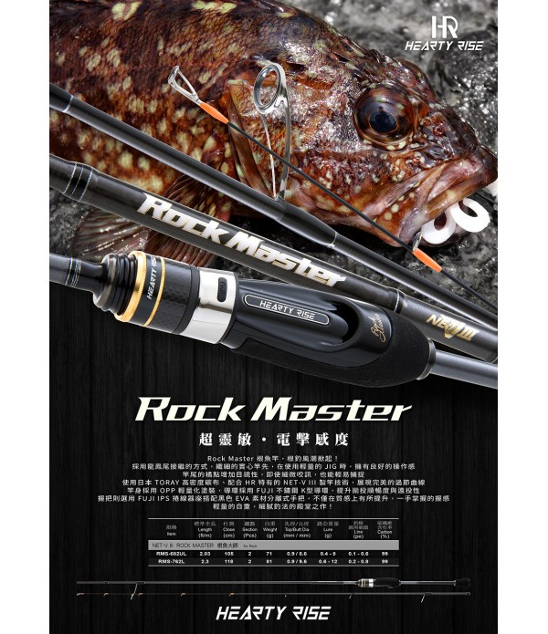 PALICA HEARTY RISE ROCK MASTER 762L 0,6-12GR