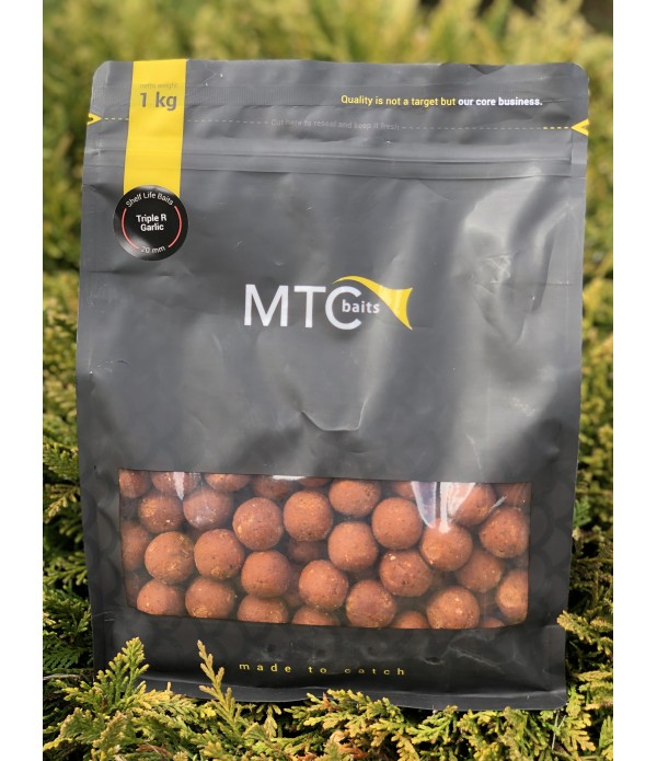 MTC BAITS BOILIE VABA TRIPLE R GARLIC 1KG 20MM