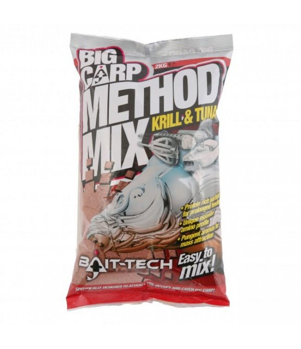 BAIT TECH SIPKA HRANA BIG CARP METHOD MIX KRILL &a...