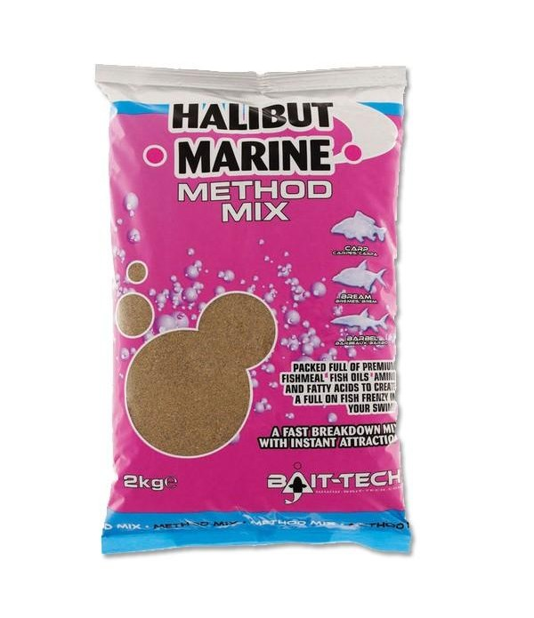 BAIT TECH SIPKA HRANA HALIBUT MARINE METHOD MIX 2KG