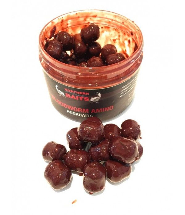 Northern Baits Bloodworm Amino Hookbaits 14-16mm