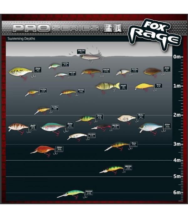 FOX RAGE VABA SLICK STICK SDR 9CM BROWN PEPPER